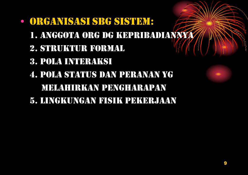 Organisasi sbg sistem: