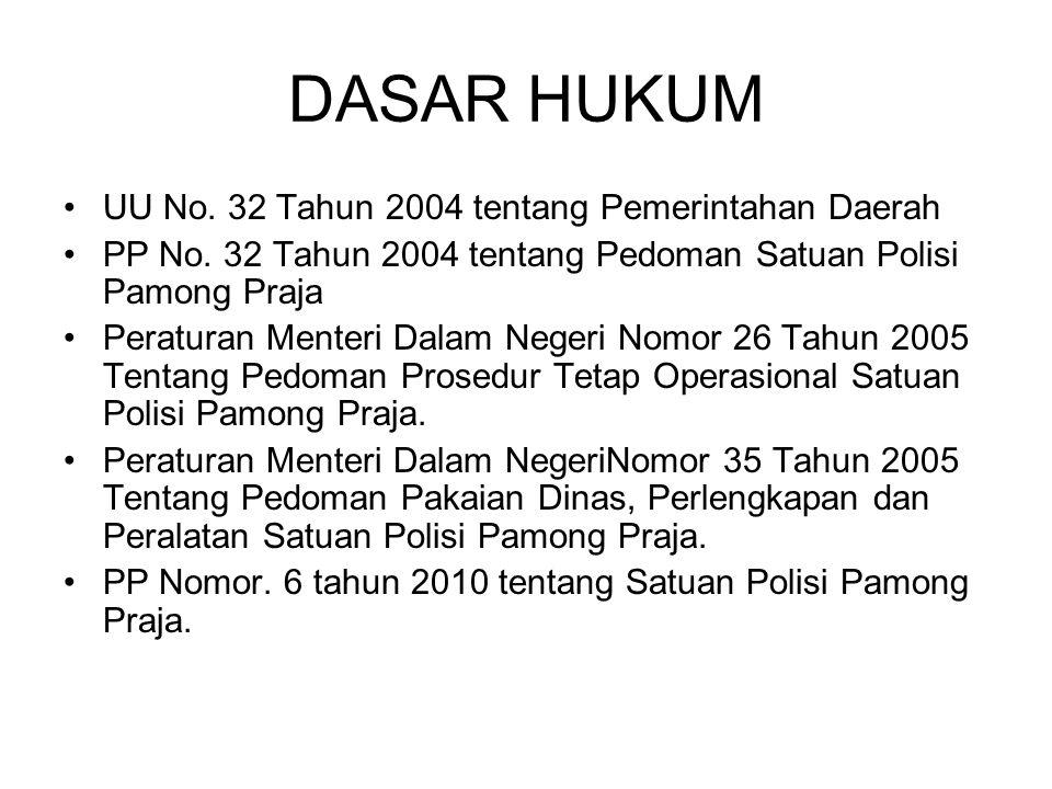 DASAR HUKUM UU No. 32 Tahun 2004 tentang Pemerintahan Daerah