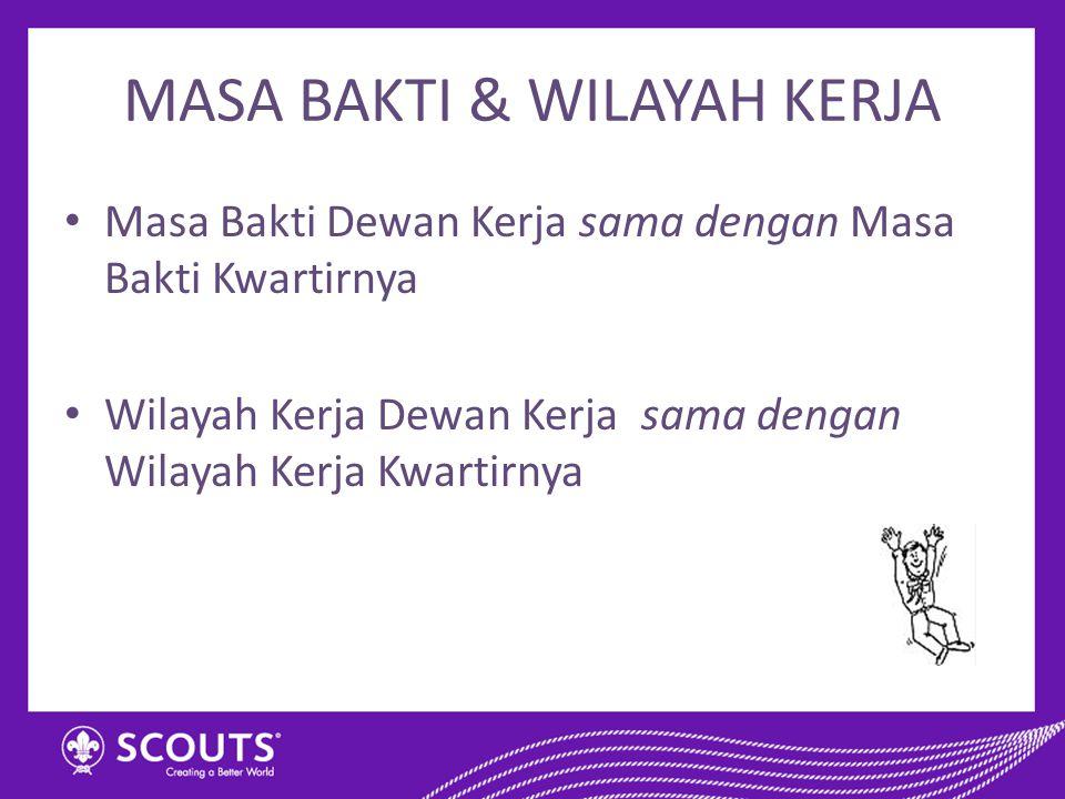 MASA BAKTI & WILAYAH KERJA
