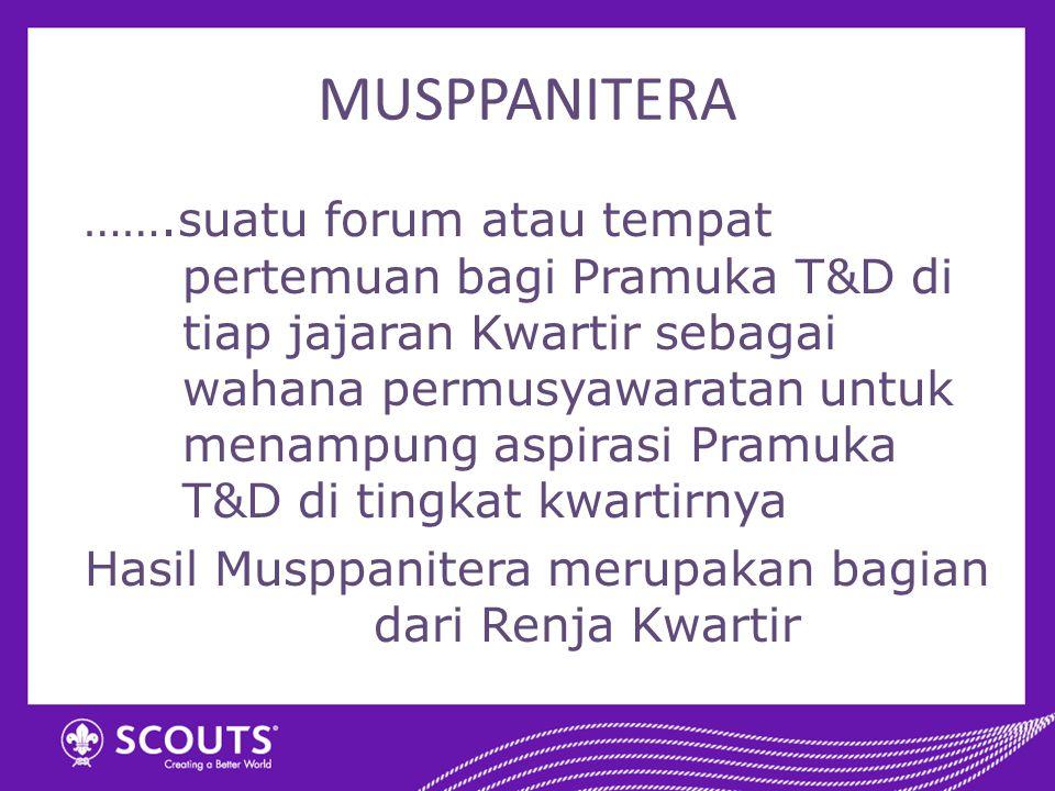 Hasil Musppanitera merupakan bagian dari Renja Kwartir