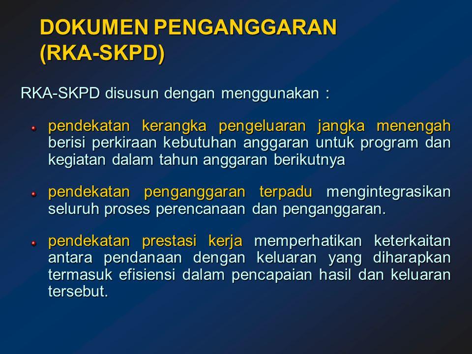 DOKUMEN PENGANGGARAN (RKA-SKPD)