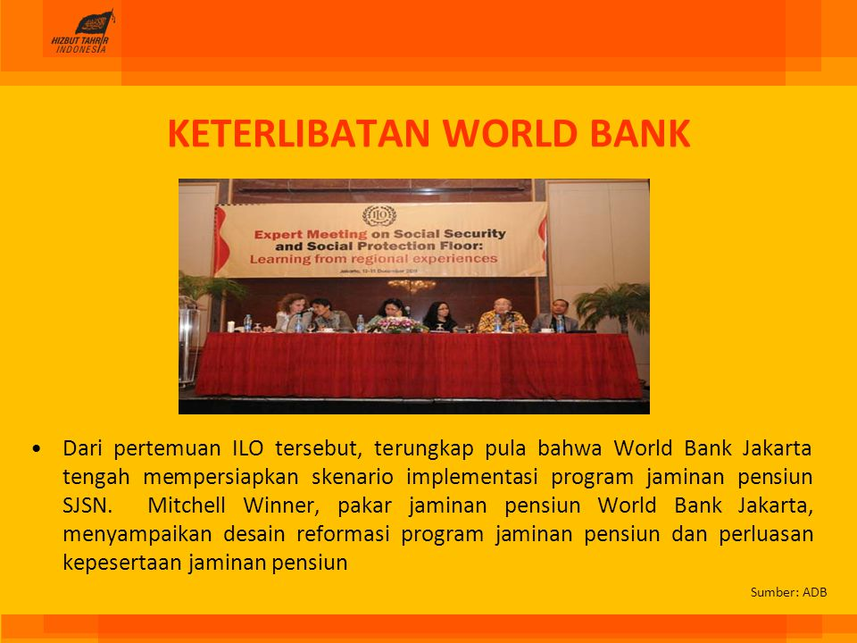 KETERLIBATAN WORLD BANK