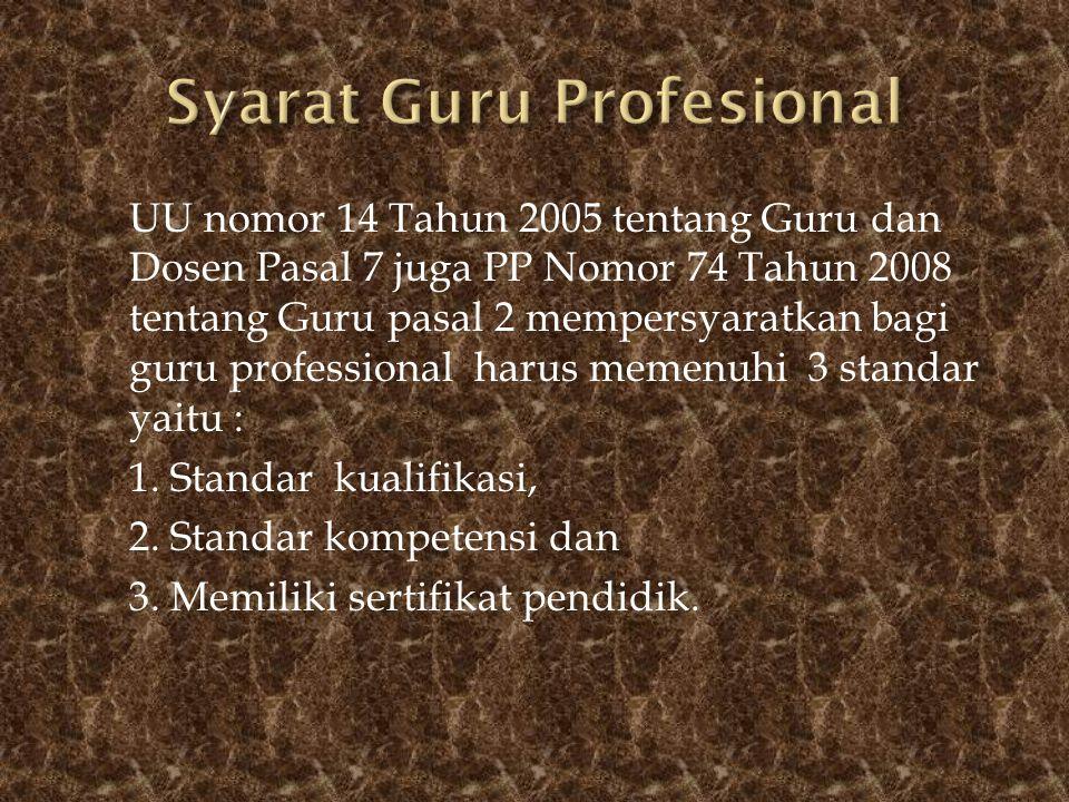 Syarat Guru Profesional