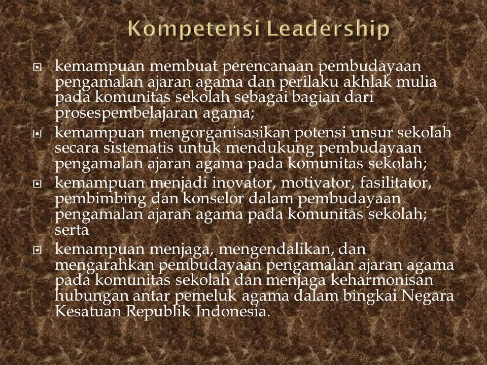 Kompetensi Leadership