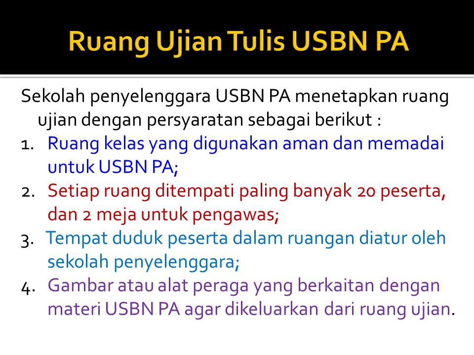 Ruang Ujian Tulis USBN PA
