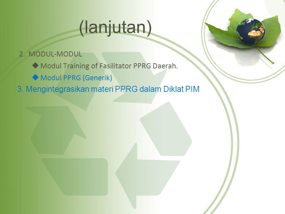 (lanjutan) 2. MODUL-MODUL Modul Training of Fasilitator PPRG Daerah.