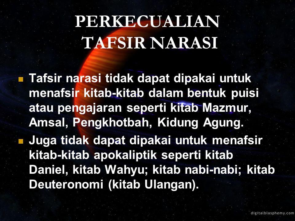 PERKECUALIAN TAFSIR NARASI