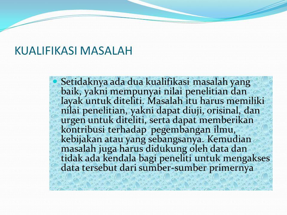 KUALIFIKASI MASALAH