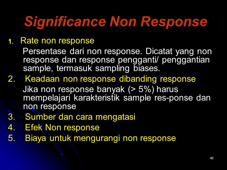 Significance Non Response