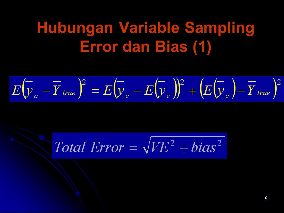 Hubungan Variable Sampling Error dan Bias (1)