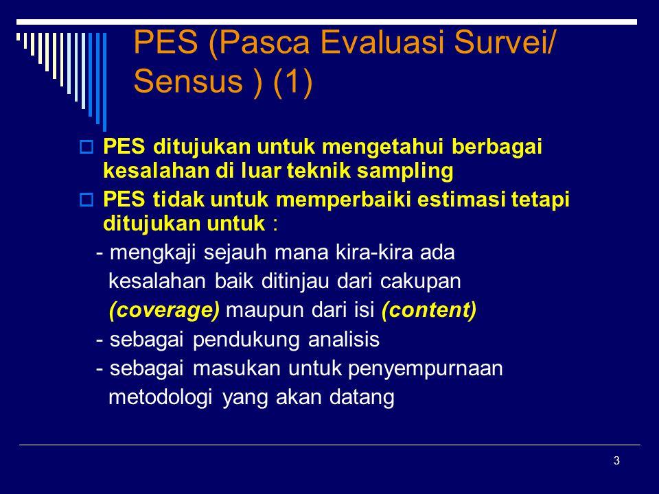 PES (Pasca Evaluasi Survei/ Sensus ) (1)