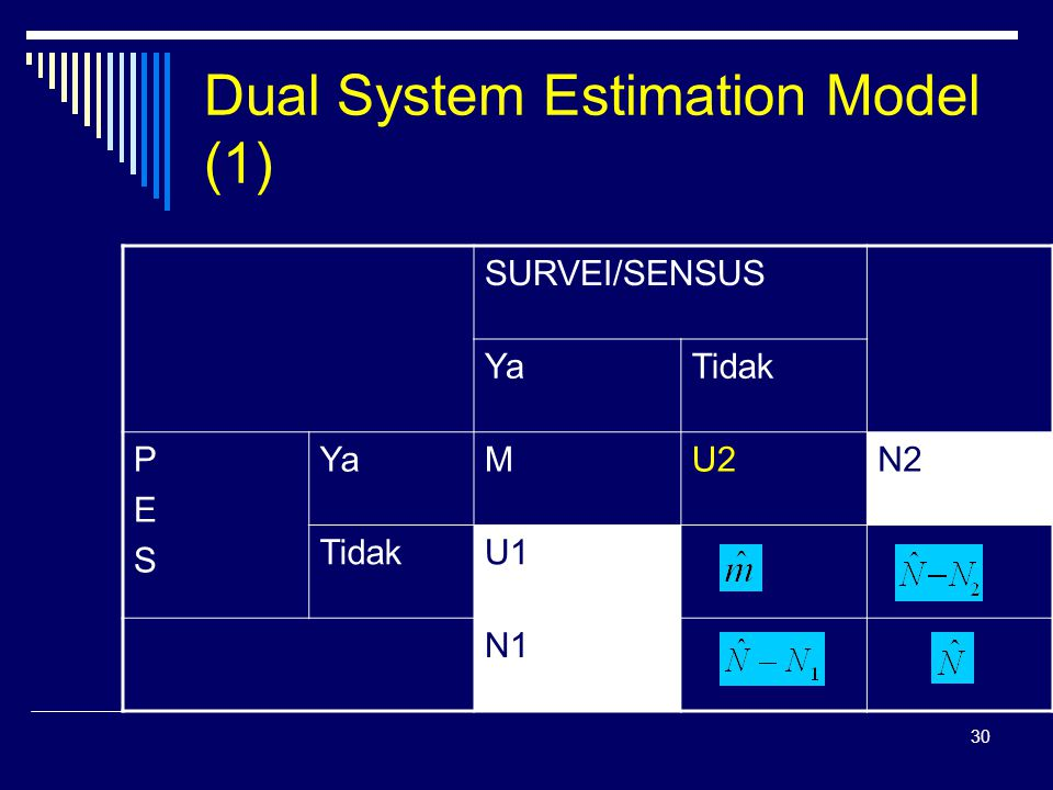 Dual System Estimation Model (1)