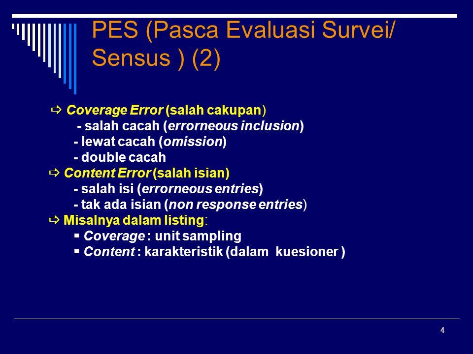 PES (Pasca Evaluasi Survei/ Sensus ) (2)