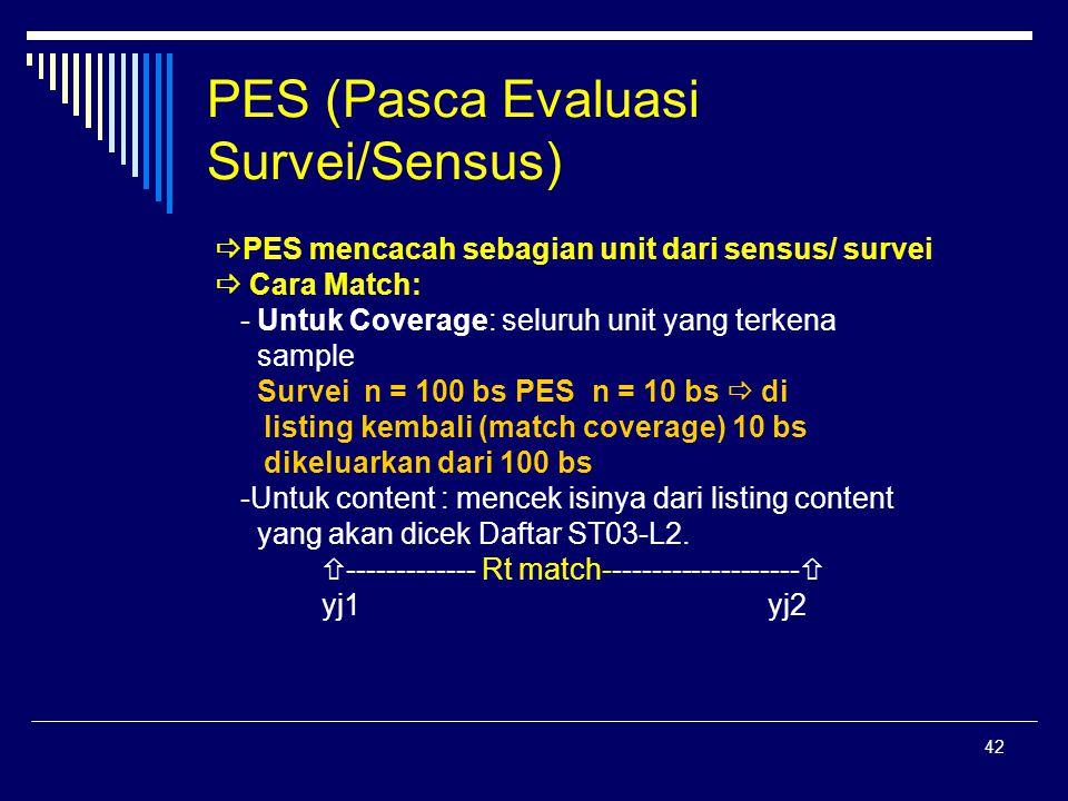 PES (Pasca Evaluasi Survei/Sensus)