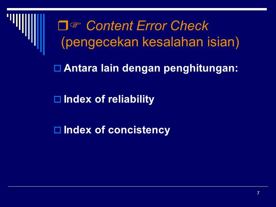  Content Error Check (pengecekan kesalahan isian)