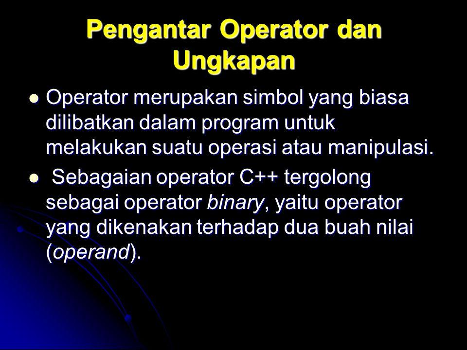 Pengantar Operator dan Ungkapan