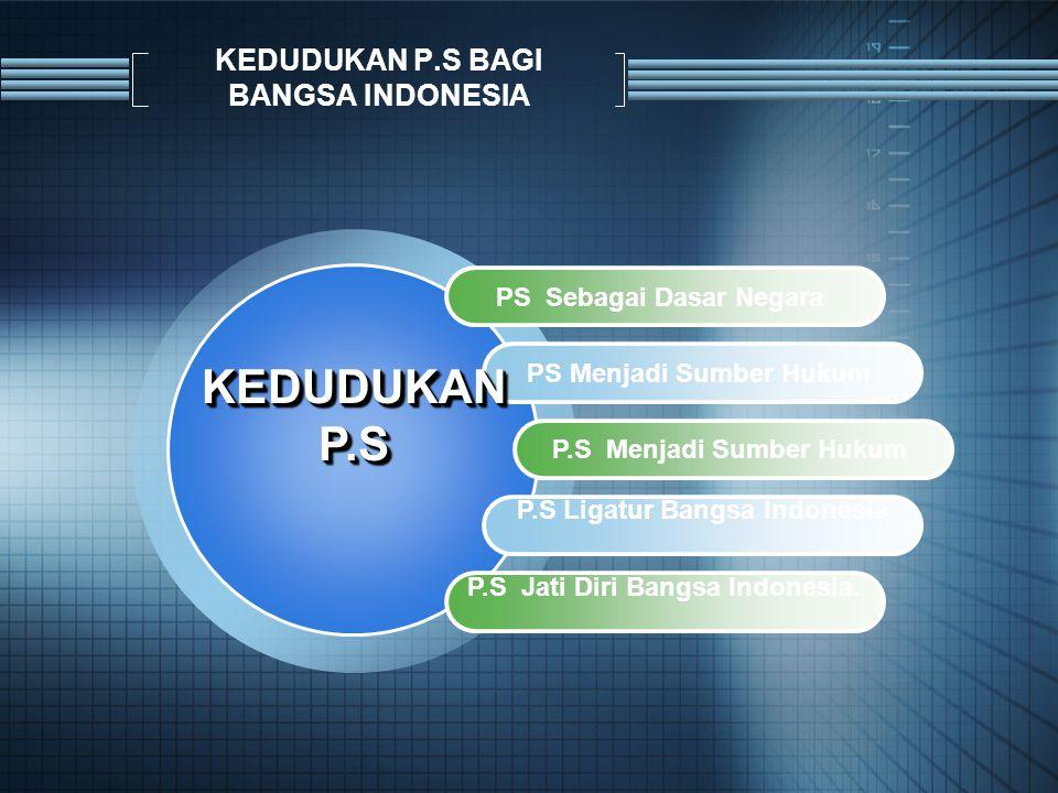 KEDUDUKAN P.S BAGI BANGSA INDONESIA