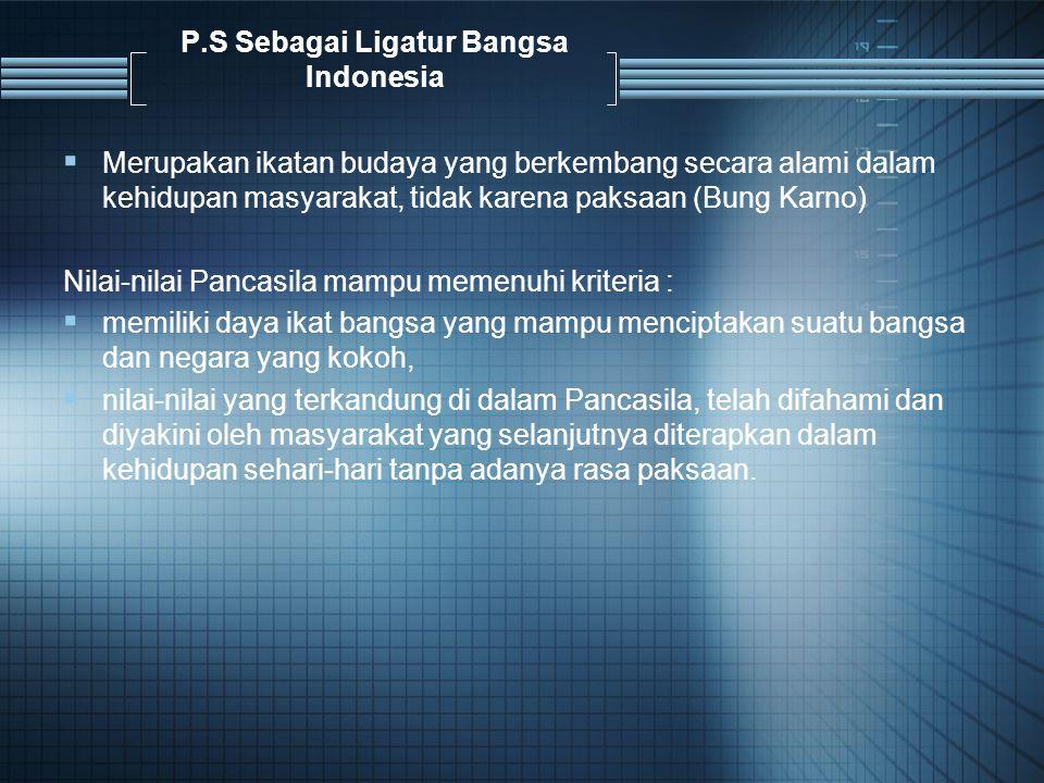 P.S Sebagai Ligatur Bangsa Indonesia