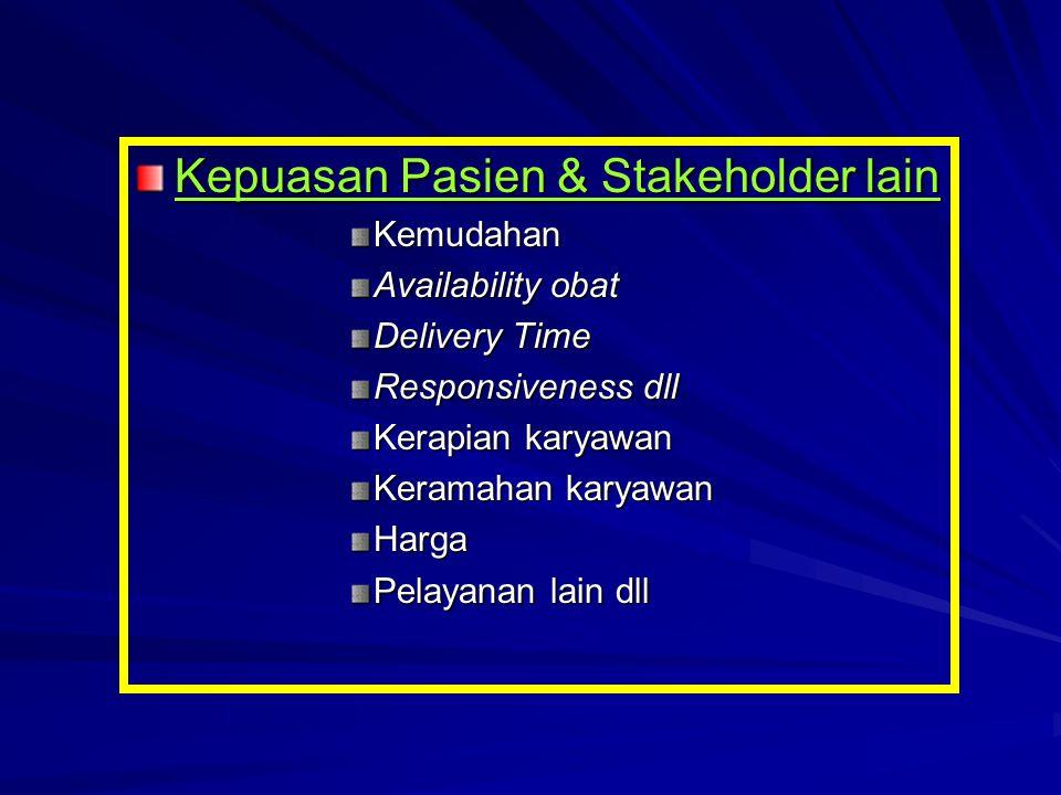 Kepuasan Pasien & Stakeholder lain