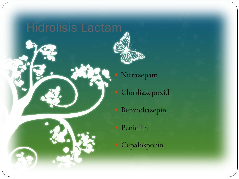 Hidrolisis Lactam Nitrazepam Clordiazepoxid Benzodiazepin Penicilin