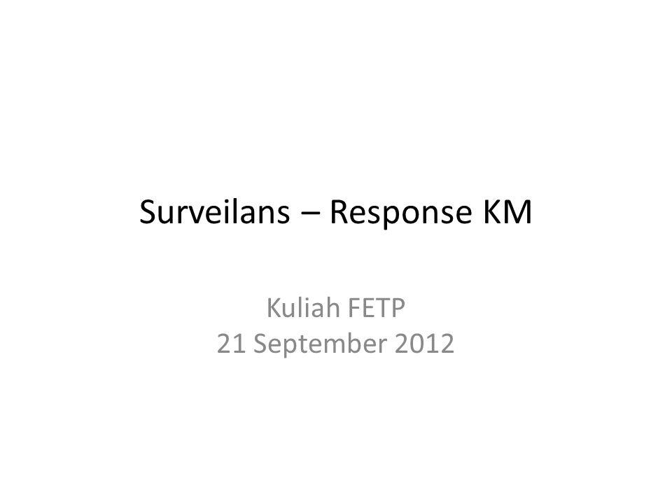 Surveilans – Response KM