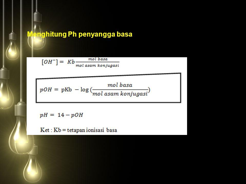Menghitung Ph penyangga basa
