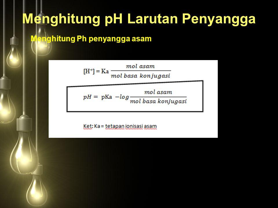 Menghitung pH Larutan Penyangga