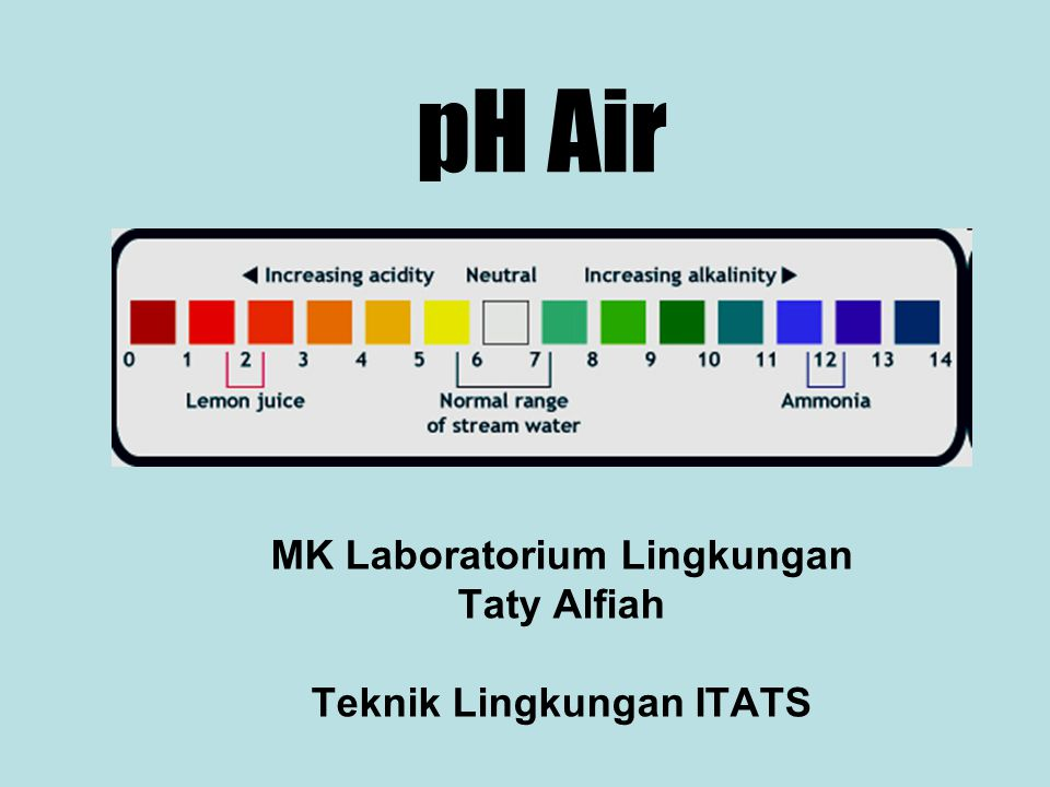 MK Laboratorium Lingkungan Taty Alfiah Teknik Lingkungan ITATS