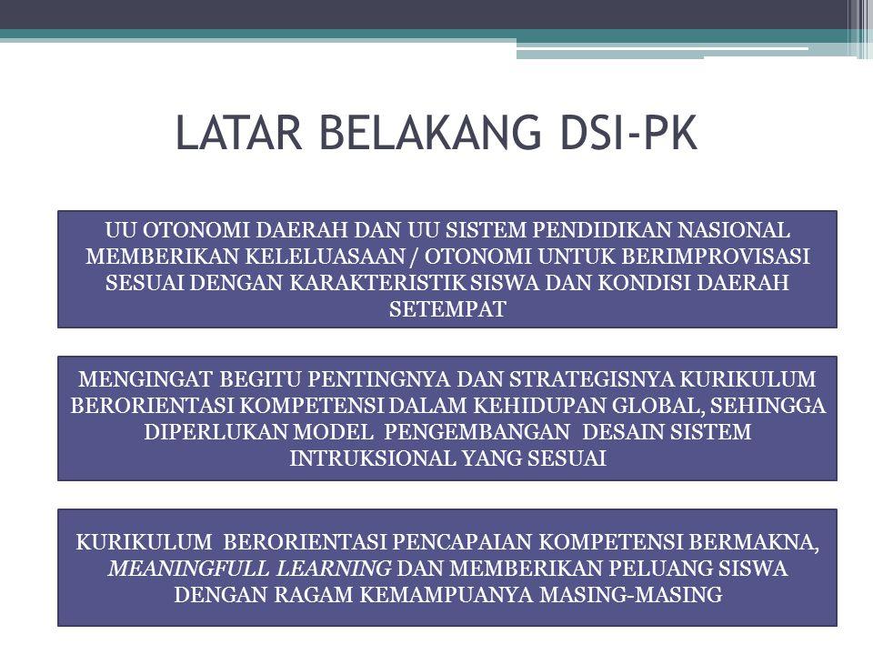 LATAR BELAKANG DSI-PK