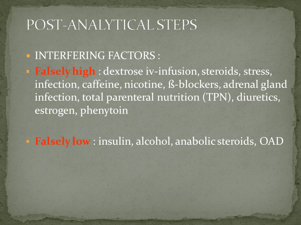 POST-ANALYTICAL STEPS