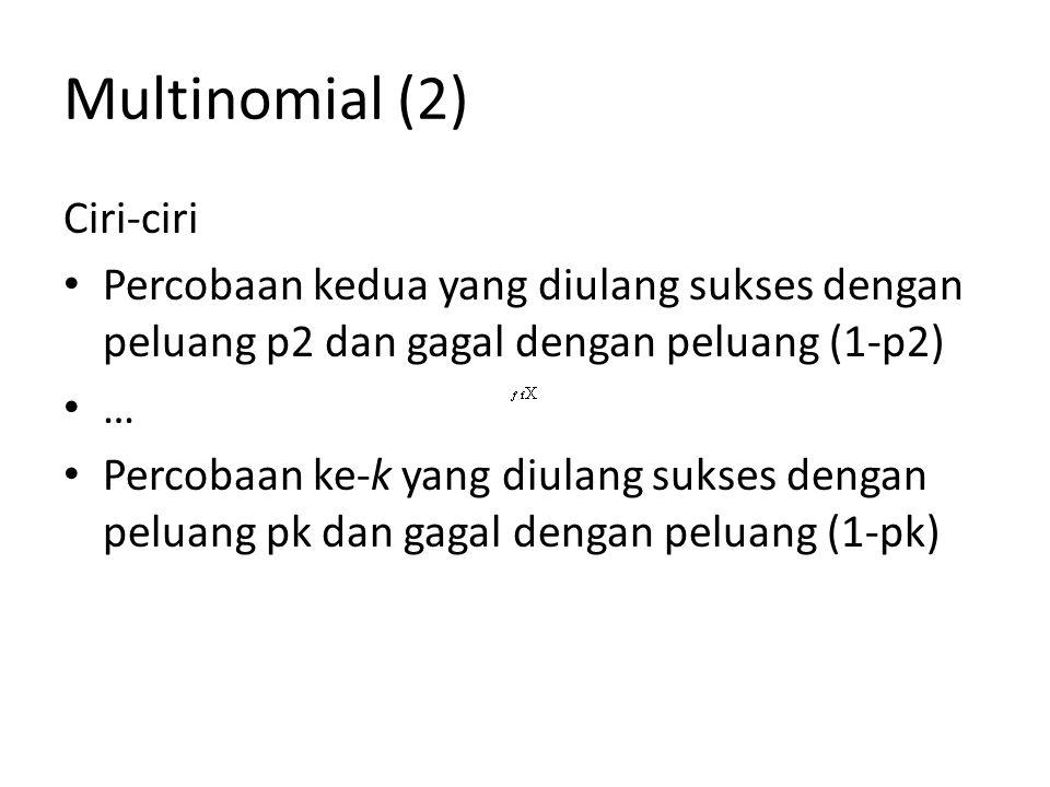 Multinomial (2) Ciri-ciri