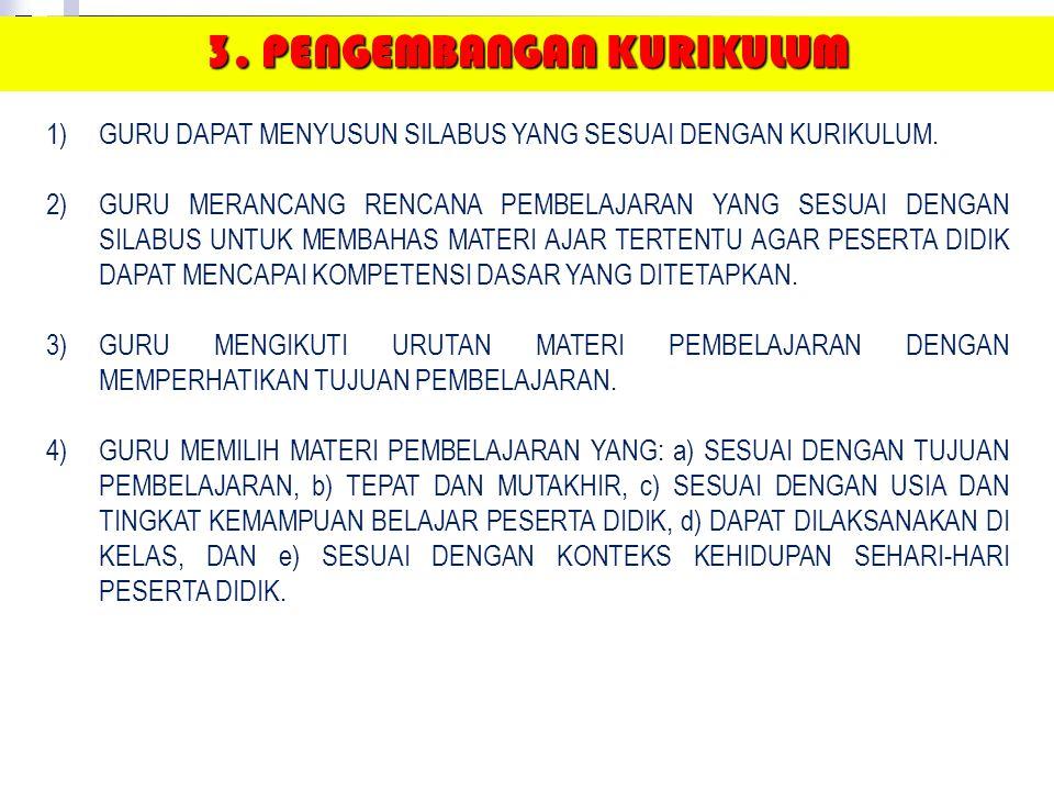 3. PENGEMBANGAN KURIKULUM