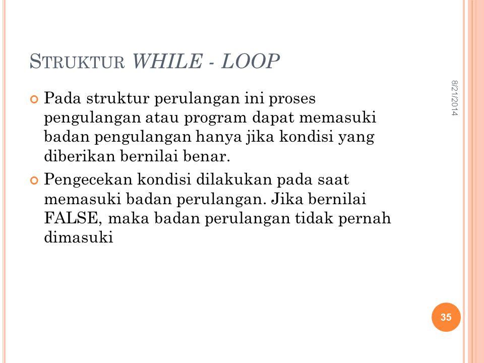 Struktur WHILE - LOOP 4/5/2017.