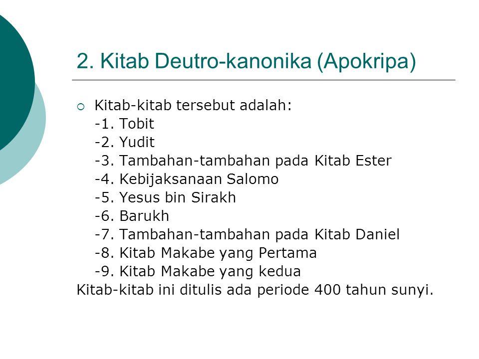 2. Kitab Deutro-kanonika (Apokripa)