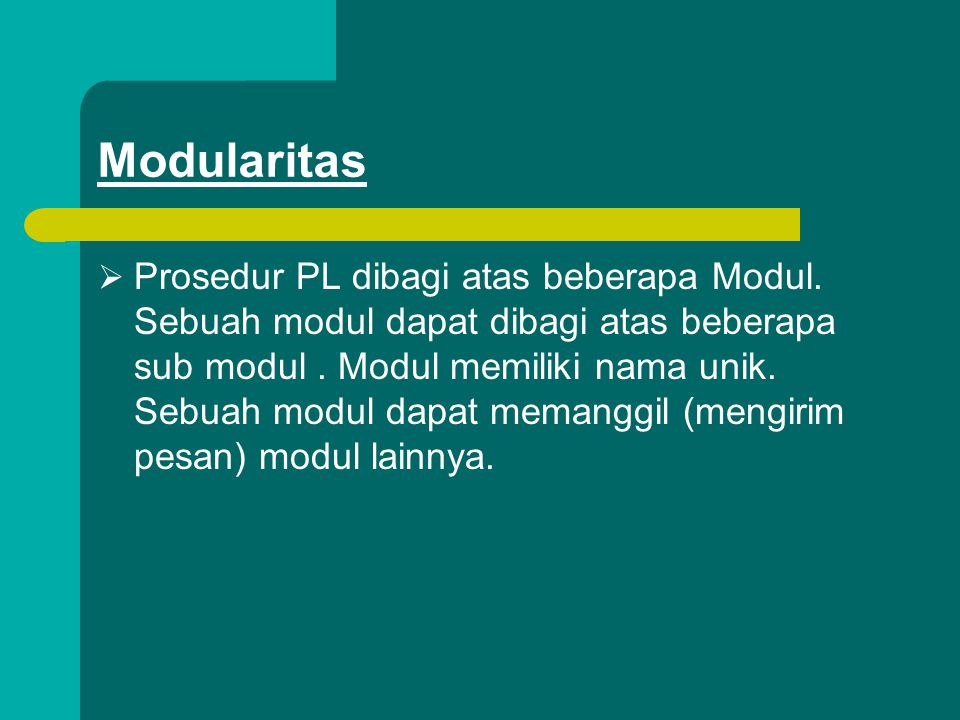 Modularitas