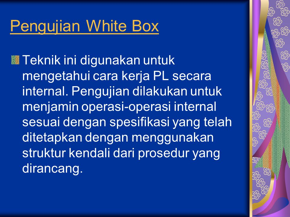 Pengujian White Box