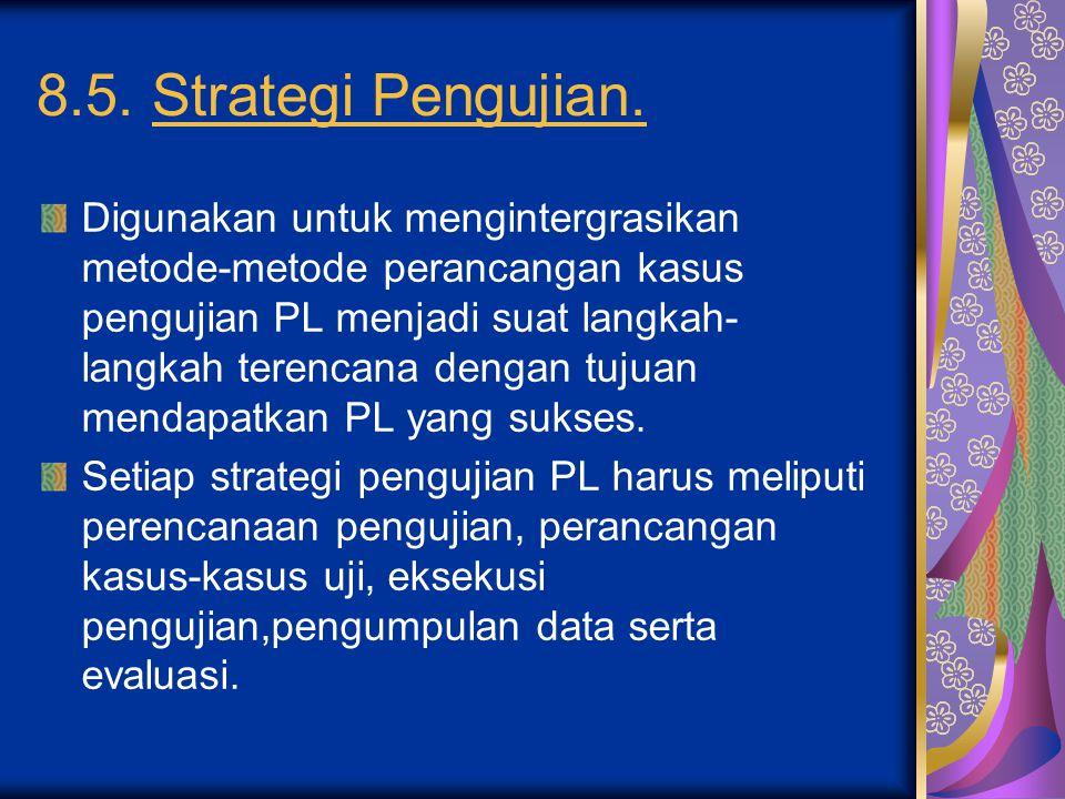 8.5. Strategi Pengujian.