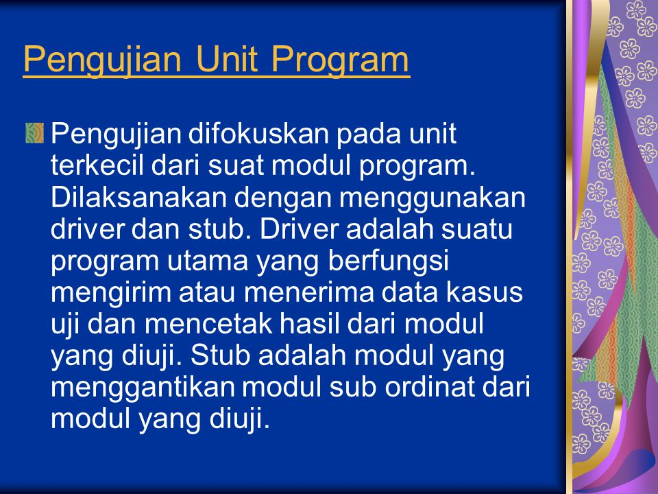 Pengujian Unit Program