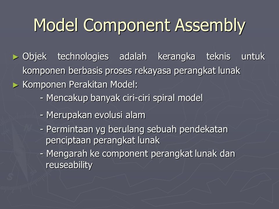 Model Component Assembly
