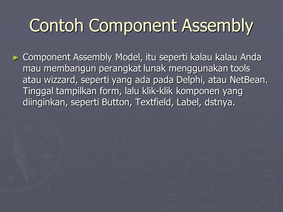 Contoh Component Assembly