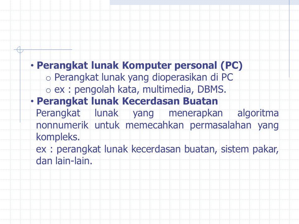 Perangkat lunak Komputer personal (PC)