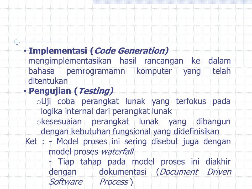 Implementasi (Code Generation)