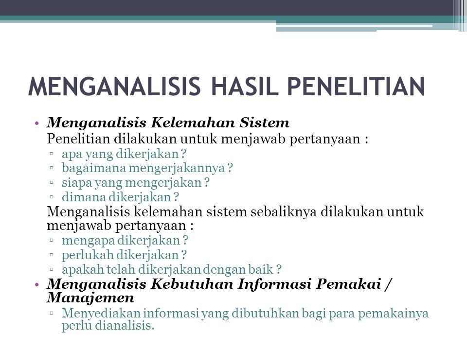MENGANALISIS HASIL PENELITIAN
