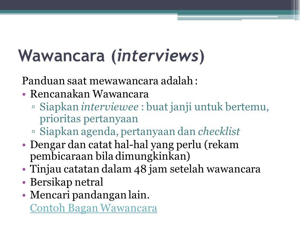 Wawancara (interviews)