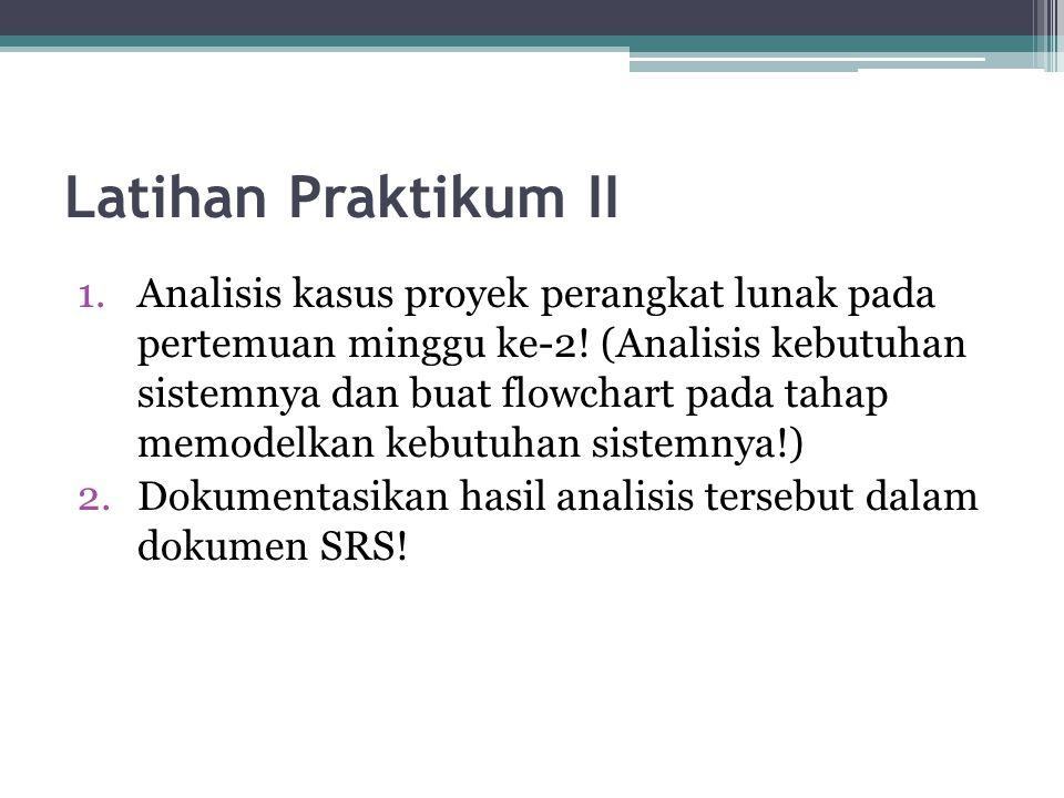 Latihan Praktikum II