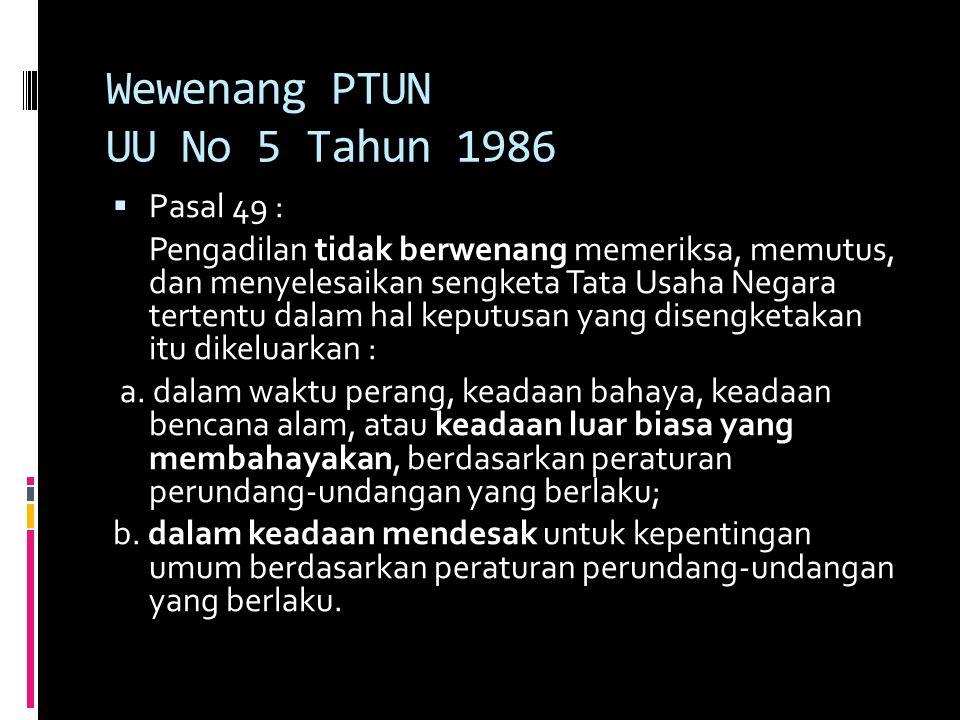 Wewenang PTUN UU No 5 Tahun 1986