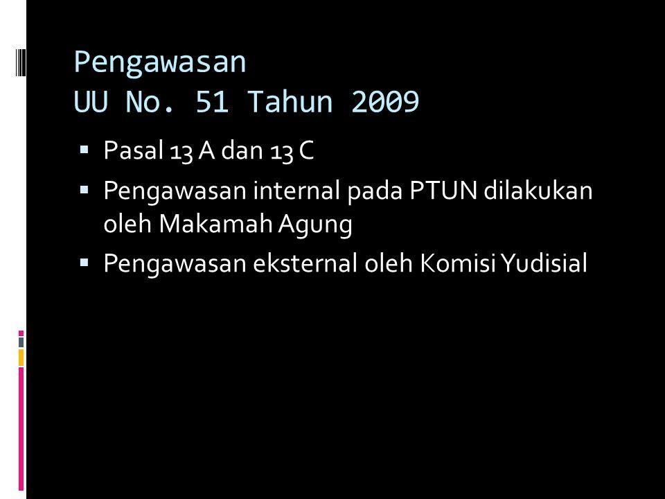 Pengawasan UU No. 51 Tahun 2009 Pasal 13 A dan 13 C