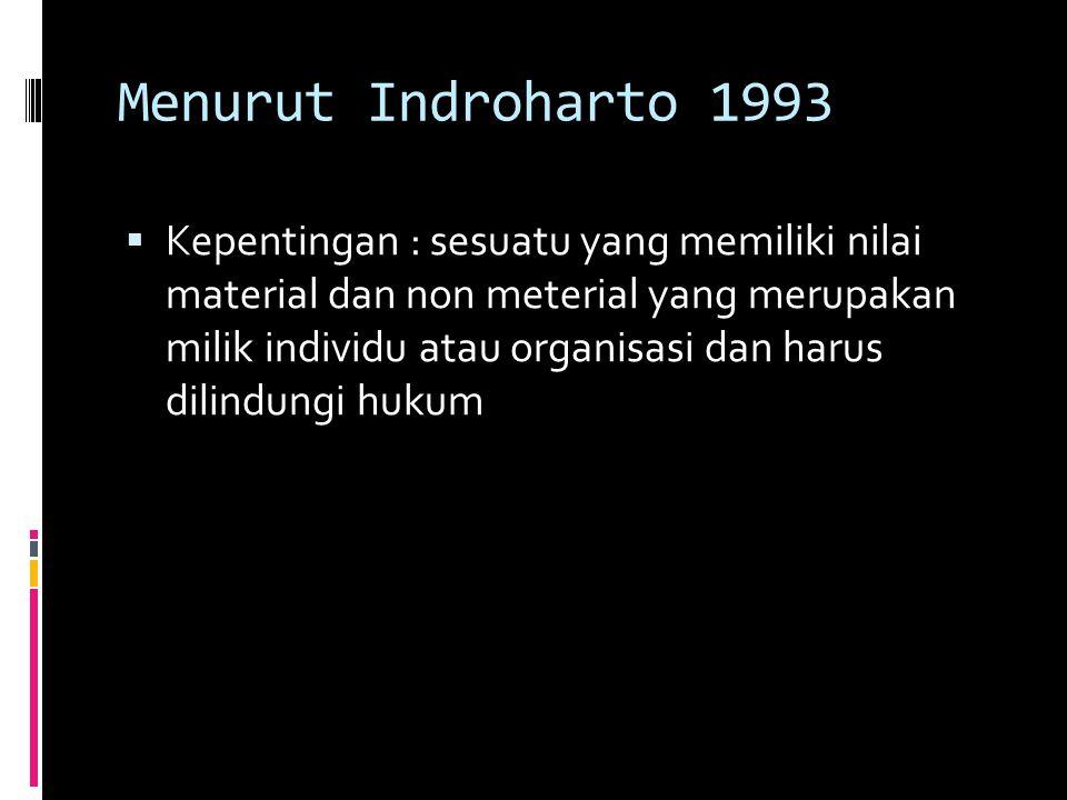 Menurut Indroharto 1993
