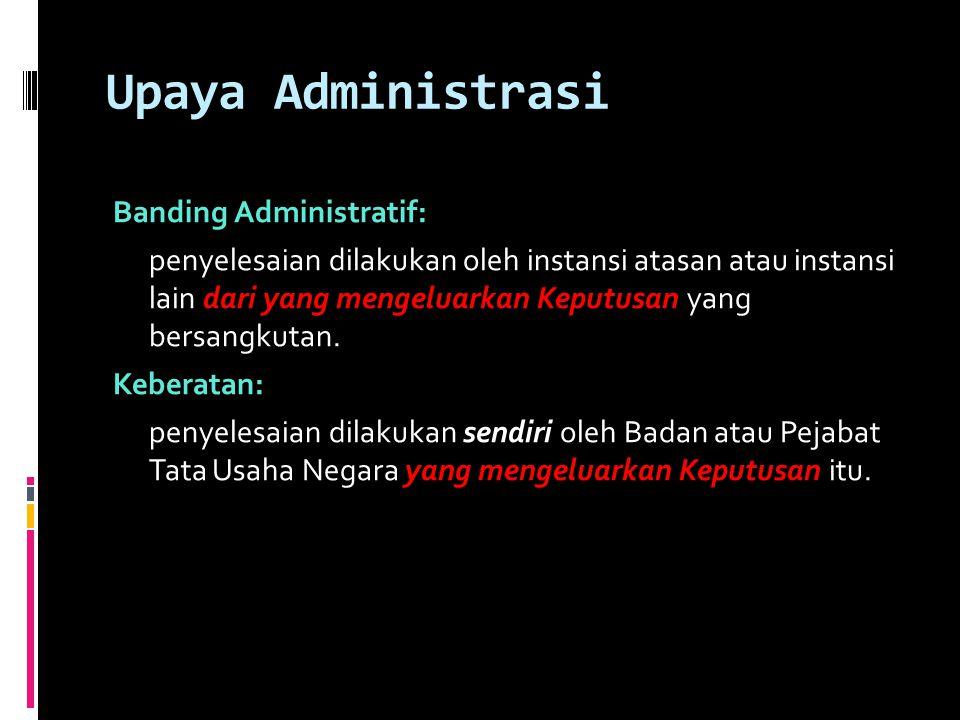 Upaya Administrasi