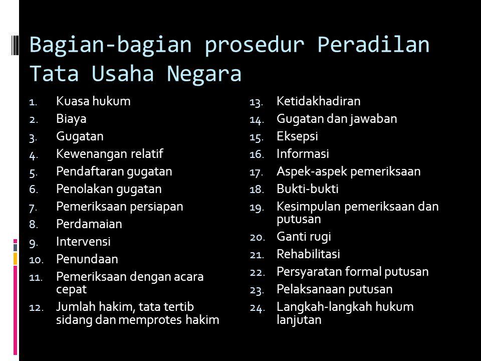 Bagian-bagian prosedur Peradilan Tata Usaha Negara